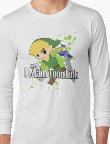 I Main Toon Link - Super Smash Bros. Long Sleeve T-Shirt