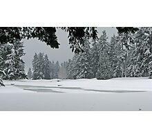 Snowy Golf Course Photographic Print