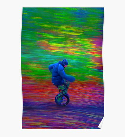 Wheely Colourful Poster