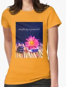 Simplicity Is Powerful Zen Rocks Dahlias Womens Fitted T-Shirt