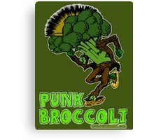 Punk Broccoli Canvas Print