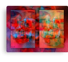 Cell division: male - female Canvas Print