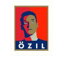 Mesut Ozil (Arsenal Palette) Art Print