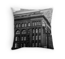 rainy day in Portland Throw Pillow
