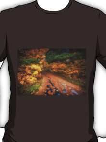 Lakeside Path in Autumn T-Shirt