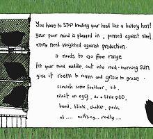 Battery Hen (green) by Shelley Knoll-Miller