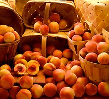 Peaches in Baskets by Jay Gross