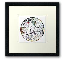 Vintage mucha goddess Framed Print