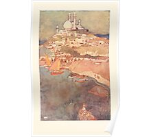 Stories from the Arabian Nights - 1907 - Edmund Dulac - 0213 - Harbor and Palace Poster