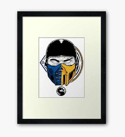 Scorpion and Subzero Framed Print