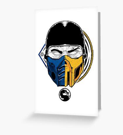 Scorpion and Subzero Greeting Card