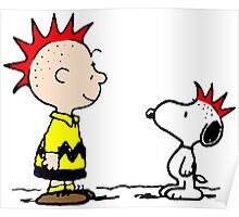 Snoopy & Charlie Brown Punk Poster