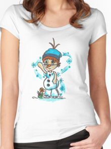 Cosplay Kids - Olaf Women's Fitted Scoop T-Shirt
