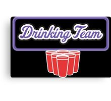 Drinking Team Canvas Print