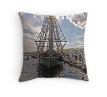 Boarding the Amistad Throw Pillow