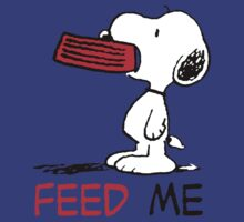 Hungry Snoopy by RedbubblePro