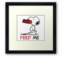 Hungry Snoopy Framed Print