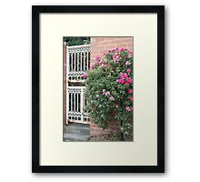 Rustic Gate Framed Print