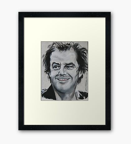 Jack Nicholson - The Shining Framed Print