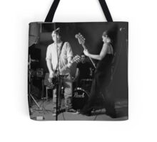 Bass goddess, guitar genius and human metronome. Tote Bag