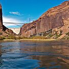 Glen Canyon dam and the Colorado by Linda Sparks