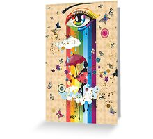 Colorful Surreal Fairy2 Greeting Card