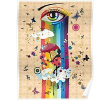 Colorful Surreal Fairy2 Poster