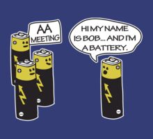 Aa Battery Meeting Funy T-Shirt Tee by maikel38