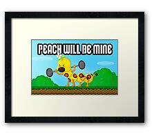 Peach will be mine! Framed Print