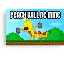 Peach will be mine! Canvas Print