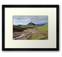 an incredible Indonesia landscape Framed Print