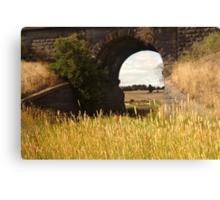 Railway Bridge,Geelong Outskirts Canvas Print