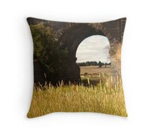 Railway Bridge,Geelong Outskirts Throw Pillow