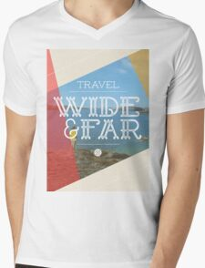 Travel Wide & Far Mens V-Neck T-Shirt