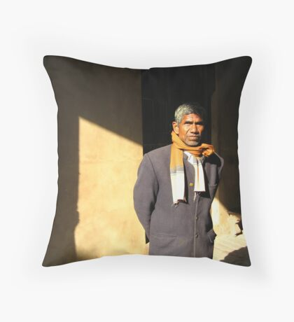 Man of India Throw Pillow