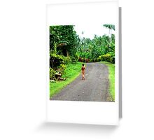 Today, I am thankful for running water. Greeting Card