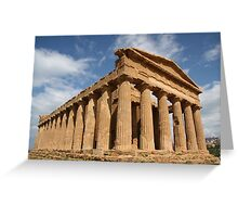 Sicilian blue sky temple dreaming Greeting Card