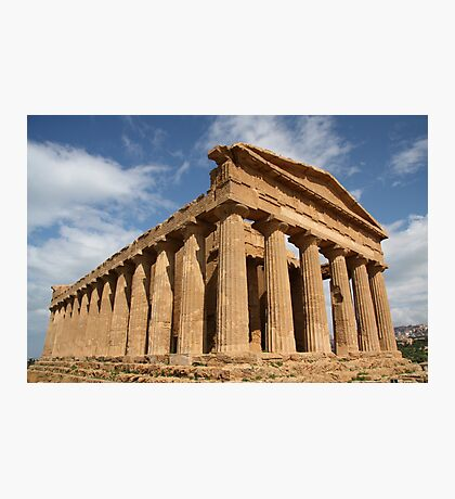 Sicilian blue sky temple dreaming Photographic Print