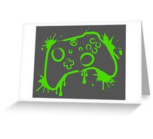 Xbox One Controller (Splatter) Greeting Card