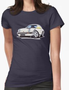 Porsche 911 White Womens Fitted T-Shirt