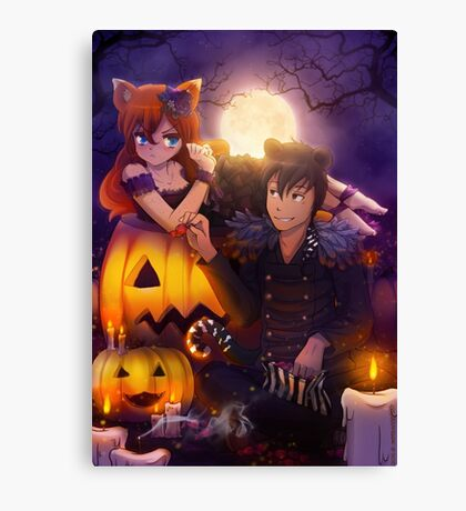 Halloween with Ada & Faust Canvas Print