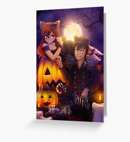 Halloween with Ada & Faust Greeting Card