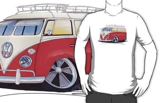 VW Splitty (15 Window) Camper (A) by Richard Yeomans