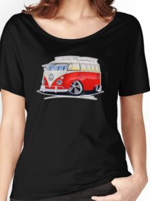 VW Splitty (15 Window) Camper (A) Women's Relaxed Fit T-Shirt