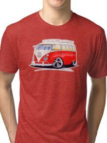 VW Splitty (15 Window) Camper (A) Tri-blend T-Shirt
