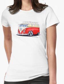 VW Splitty (15 Window) Camper (A) Womens Fitted T-Shirt