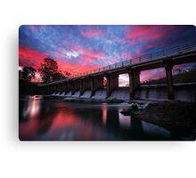 Mt Crosby Weir Sunset Canvas Print