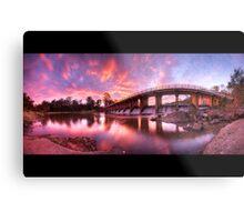 Mt Crosby Weir Sunset Panorama Metal Print