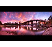 Mt Crosby Weir Sunset Panorama Photographic Print