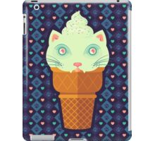 Strawberry-Mint Cat iPad Case/Skin